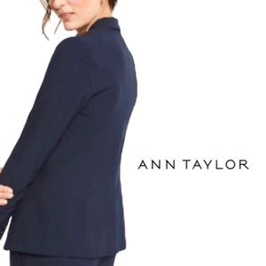 Ann Taylor navy blue long sleeve blazer women's 4P